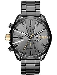 Men's Ms9 Chrono Quartz Watch with Stainless-Steel Strap, Black, 10 (Model: DZ4474
