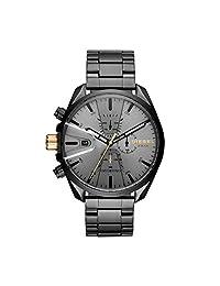 Diesel Ms9 Chrono DZ4474 - Reloj de cuarzo para hombre con correa de acero inoxidable, color negro