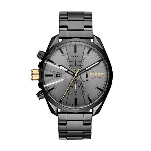 (Diesel Men's Ms9 Chrono Quartz Watch with Stainless-Steel Strap, Black, 10 (Model: DZ4474)