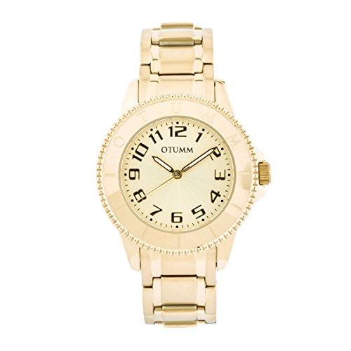 Otumm Ibiza Gold 003 Señora Oro 38mm Señora Ibiza Reloj: Amazon.es: Relojes