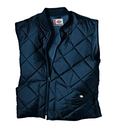 Dickies Men\'s Big Diamond Quilted Nylon Vest, Dark Navy, 3X