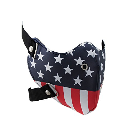 Stars and Stripes American Flag Vinyl Half Face Riding mask