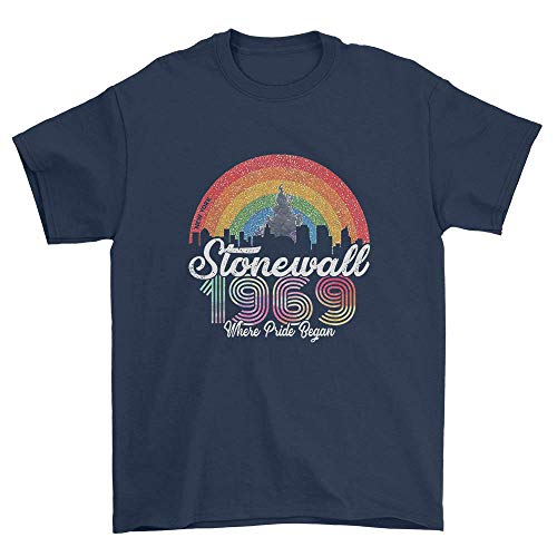 Stonewall 1969 Where Pride Began Vintage Rainbow T-Shirt ()