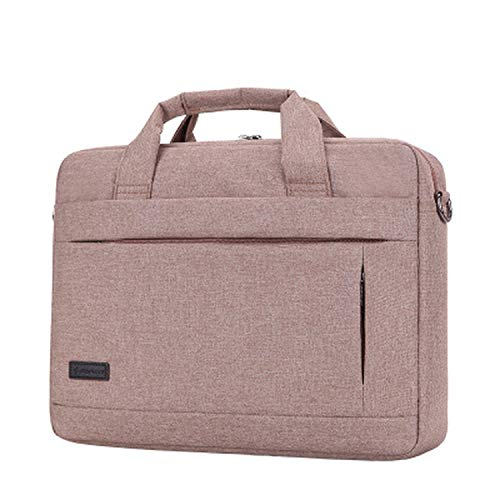 Laptop Handbag Large Capacity For Men Women Travel Briefcase Business Notebook Bags 14 15 Inch Dell Pc,Pink 15inch,