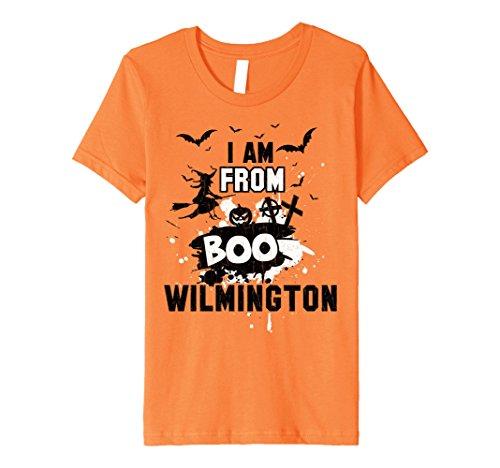 Kids New Wilmington Halloween Scare Boo Gift T-Shirt 8 Orange (Wilmington Halloween)