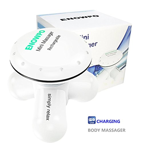 ENOWPO Body Powerful Percussion Therapeutic Massager Electric Mini Personal Handheld Portable Vibration Massage Machine for back neck shoulder legs foot(White)