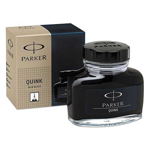 Super Quink Permanent Ink For Parker Pens, 2 Oz Bottle, Blue/black (Ink Black Sanford Bottle)