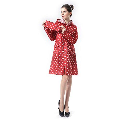 Imperméable De Mesdames Pluie Pois Dopobo Vêtements Pour Femme Élégantes Rouge À Capuche xBpwgxqXn
