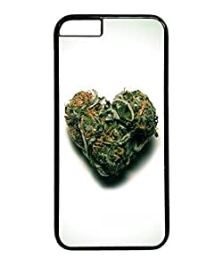VUTTOO Iphone 6 Case, Weed Heart Hard Case for Apple iPhone 6 4.7 Inch PC Black