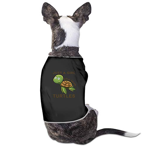 LzVong Green Turtle Pet Clothing T Shirts Costume Vest Pet Suit]()