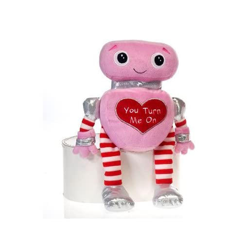 "12"" Cuddle Valentine Plush Toy Robot"