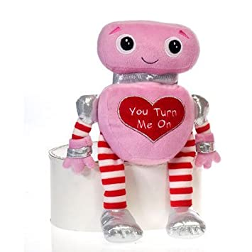12u0026quot; Cuddle Valentine Plush Toy Robot
