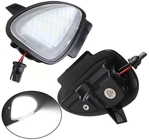 NSLUMO Lot de 2 r/étroviseurs lat/éraux /à 6 LED pour VW GTi//Golf MK6 6//MKVI 2010-2014 Blanc