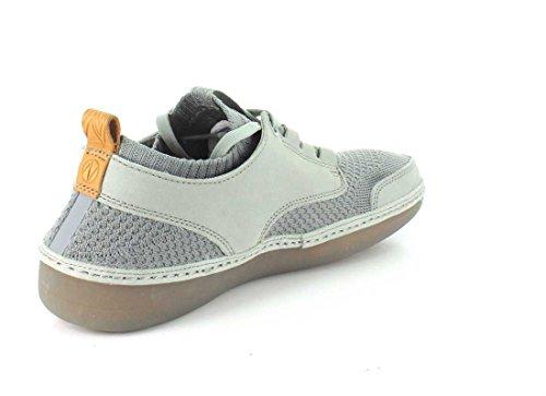 Clarks Mens Combi Grigio Natura Iv Sneaker