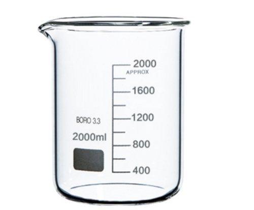 Rocwing - Borosilicato 3.3 Vaso de Vidrio Graduado para Uso en Química Médica de Laboratorio (
