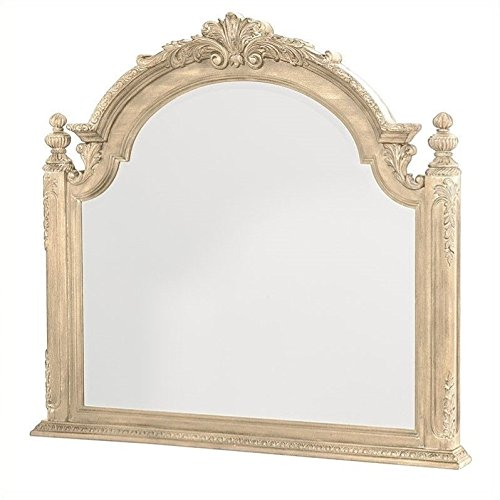 American Drew Traditional Mirror in White Veil -