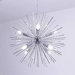Interior Lighting Jaycomey Chandeliers Firework Chandelier,Modern Pendant Lighting with 8 Lights,Metal Aluminum Ceiling Pendant Light… modern ceiling light fixtures