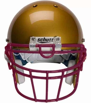 Schutt Maroon Reinforced Oral Protection (ROPO-UB-DW) Full Cage Football Helmet Face Guard from
