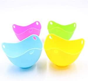 Silicone Egg Poaching Cup, Non-Stick Poached Eggs Cooker,Microwave Egg Poacher,Food Grade Baking Tools For Fancy Boiled Egg,4-In-1