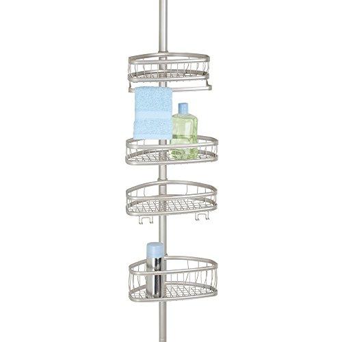 Duschzubehör mdesign teleskop duschregal ohne bohren zu montierende duschablage