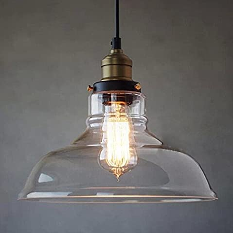 BAYCHEER HL409879 Industrial Edison Vintage Style Pendant Glass Hanging Light Modern ceiling lighting Antique pendant lights with 1 light