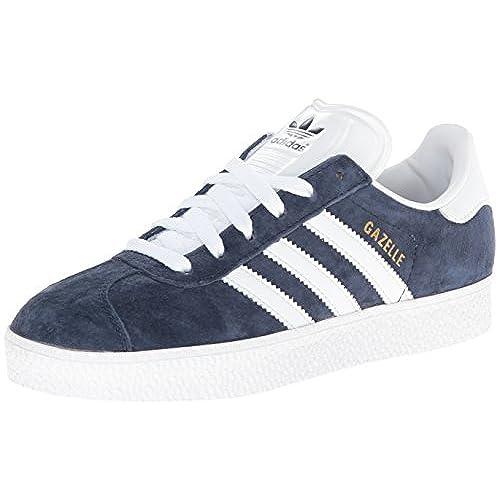 Adidas Originals Men's Gazelle Lace-up Sneaker,Marine/Run White,9.5 M US