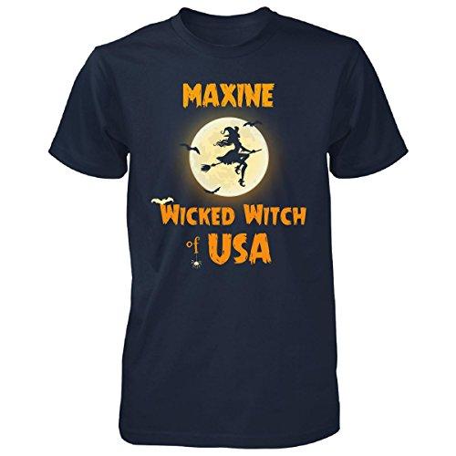 Maxine Wicked Witch Of Usa Halloween Gift - Unisex Tshirt Navy (Maxine On Halloween)