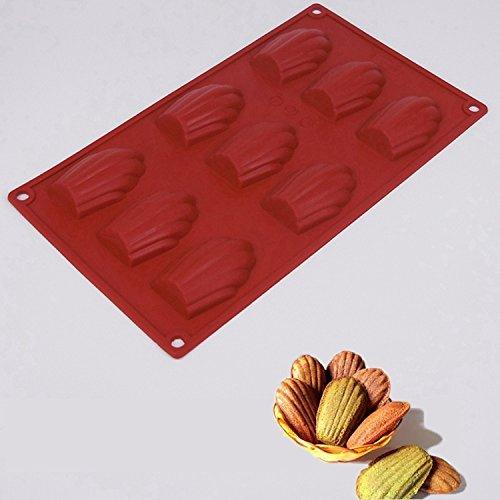 Hosaire Molde de Silicona de Pastel Molde de Fondant DIY Decoración de Repostería Pastel Cookie (Forma de concha): Amazon.es: Hogar