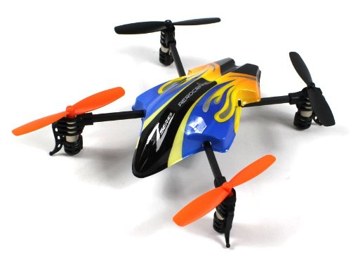 Flaming Zee 601 Electric RC Quadcopter 2.4GHz Lightweight Quad-Rotor Drone GYRO Gyroscope 4CH Channel Ready To Fly RTF (Colors May Vary) Helicopter 2.4 Ghz Metal