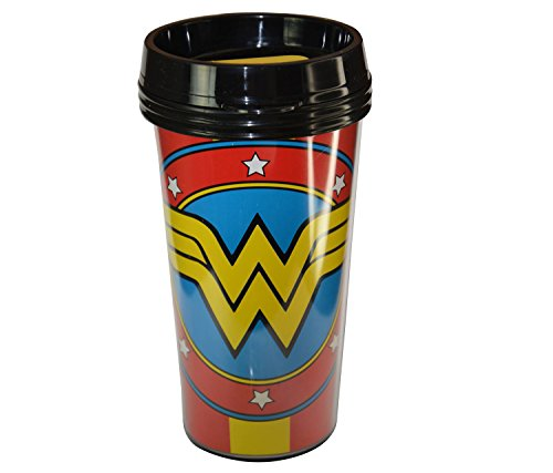 Wonder Woman Red Travel To Go Drinkware Cup - 16 ounces - Item #103126