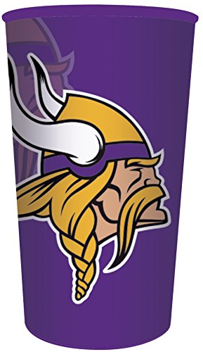 Mn Cup - Creative Converting Officially Licensed NFL Plastic Souvenir Cups, 20-Count, 22-Ounce, Minnesota Vikings