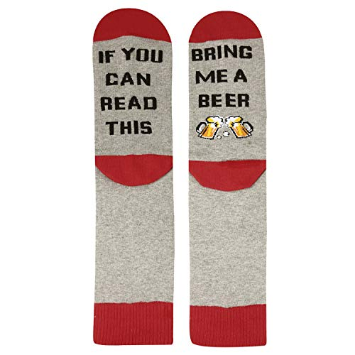 If You Can Read This Novelty Funny Saying Beer Crew Socks, Beer Gift for Women (Shoe Christmas Stocking)