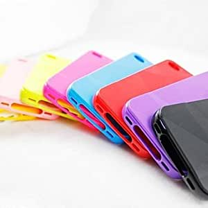 xiao Solid Colour Geometric Shape Soft Back Case for iPhone 5/5S (Assorted Colors) , Royal Blue