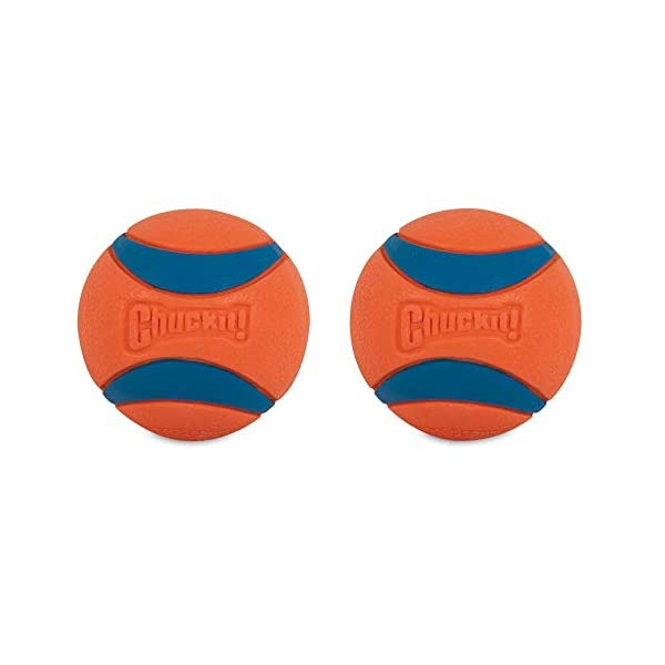 Chuckit Ultra Ball, Durable High Bounce Rubber, Launcher Compatible, 2 Pack, Small 4