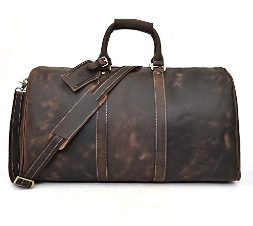 XL-Super Travel Leather Duffle Bag: FSO Leather