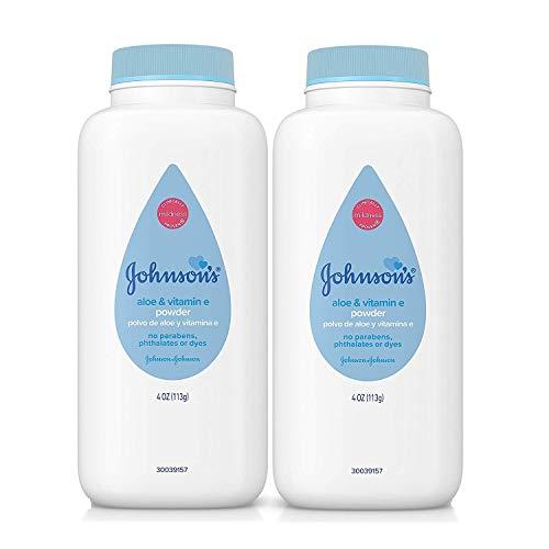 Johnson's Baby Powder with Aloe Vera and Vitamin E, 4 oz (113g) - Pack of 2