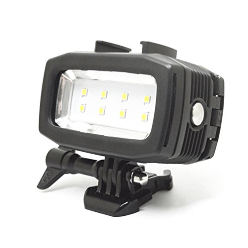 Underwater Light for GoPro Hero 6/5s/5/4s/4/3+/3, 30m Waterproof Diving Camera Light with LEDs of High Brightness 600LM Rechargeable by Auroum