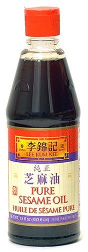 Lee Kum Kee Pure Sesame Oil, 15-Ounce Bottle (Pack of 4)