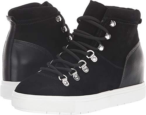 STEVEN by Steve Madden Women's Kalea Sneaker, Black Suede, 8 M US