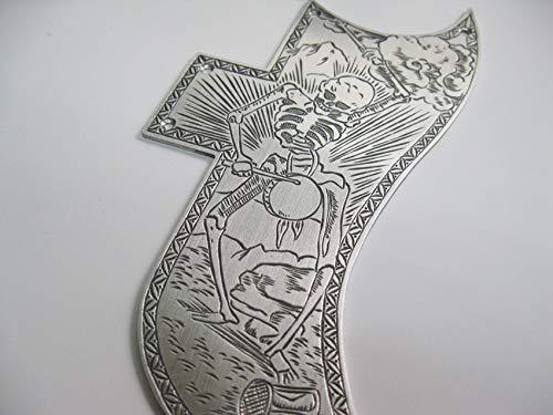 Protector de púas de aluminio para guitarra eléctrica Gibson SG, diseño de calavera: Amazon.es: Instrumentos musicales