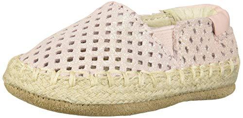 Robeez Girls' Espadrille-First Kicks Crib Shoe, Pink Shimmer, 9-12 Months