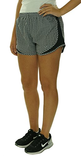 Nike Women's Printed Modern Tempo Running Shorts, White/Black, Small