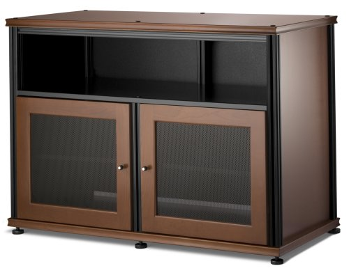 Salamander Synergy 329 A V Cabinet w Two Doors Center Channel Shelf Cherry Black