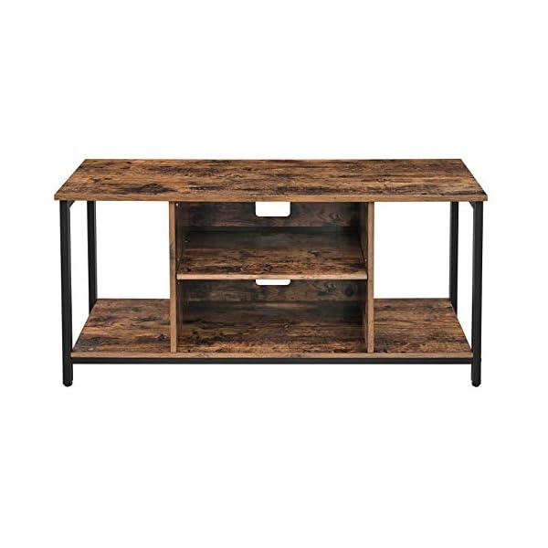 VASAGLE Meuble TV, Support télévision, avec Compartiments de Rangement Ouverts, Table Console, avec étagères, pour Salon…