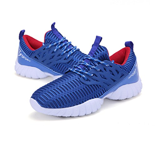 Adulte Mixte Chaussure de Sport Net Tissu Chaussure Running Course Mulitsport Jogging Voyage Confortable Simple Bleu 39 eBk0exIn6