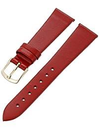 Hadley-Roma Women's LSL702RQ-180 18mm Red Genuine Leather Watch Strap