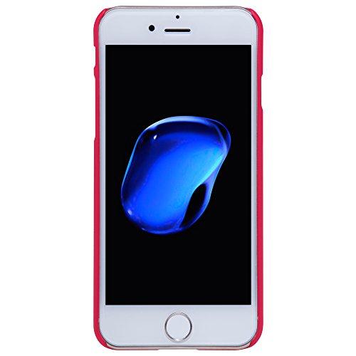 Meimeiwu Super-Frosted Tasche Qualitativ hochwertiges Back Cover Schutzhülle mit Displayschutz für iPhone 7 Plus,Rot