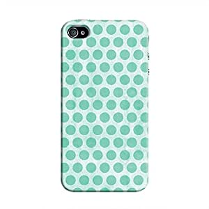 Cover It Up - Blue Polka iPhone 4/4s Hard Case