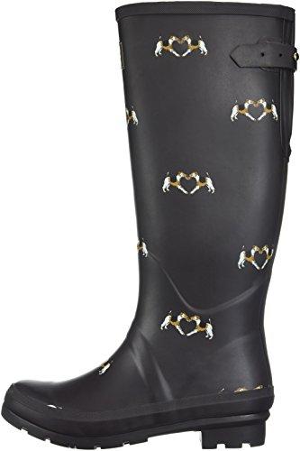 Fox Joule Y dark Terrier Braun Femme Saddle Bottes De Pluie Tom Wellyprint vH1RdwqH7