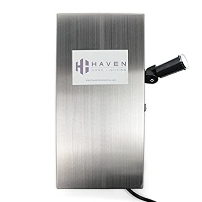 Haven Home Lighting 12-15 VAC 150 Watt Multi Tap Stainless Steel Low Voltage Landscape Lighting Transformer (w/ Light Sensor)